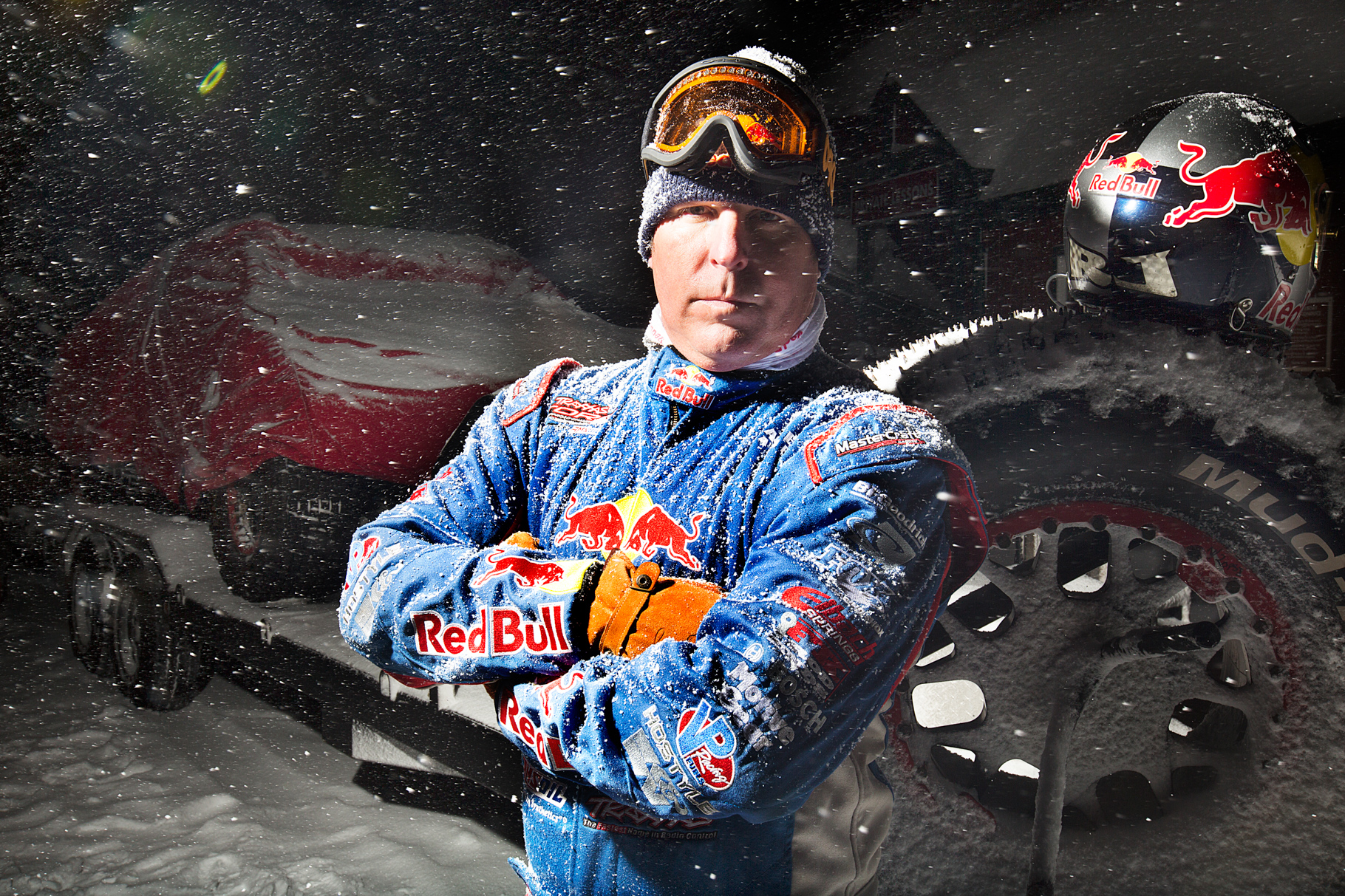 Ricky Johnson Frozen Rush for Red Bull by Boston based commercial portrait photographer Brian Nevins