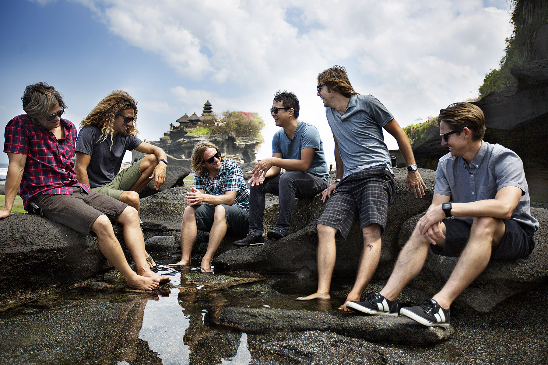 Switchfoot in Bali for their album release Fading West by Boston based commercial lifestyle photographer Brian Nevins