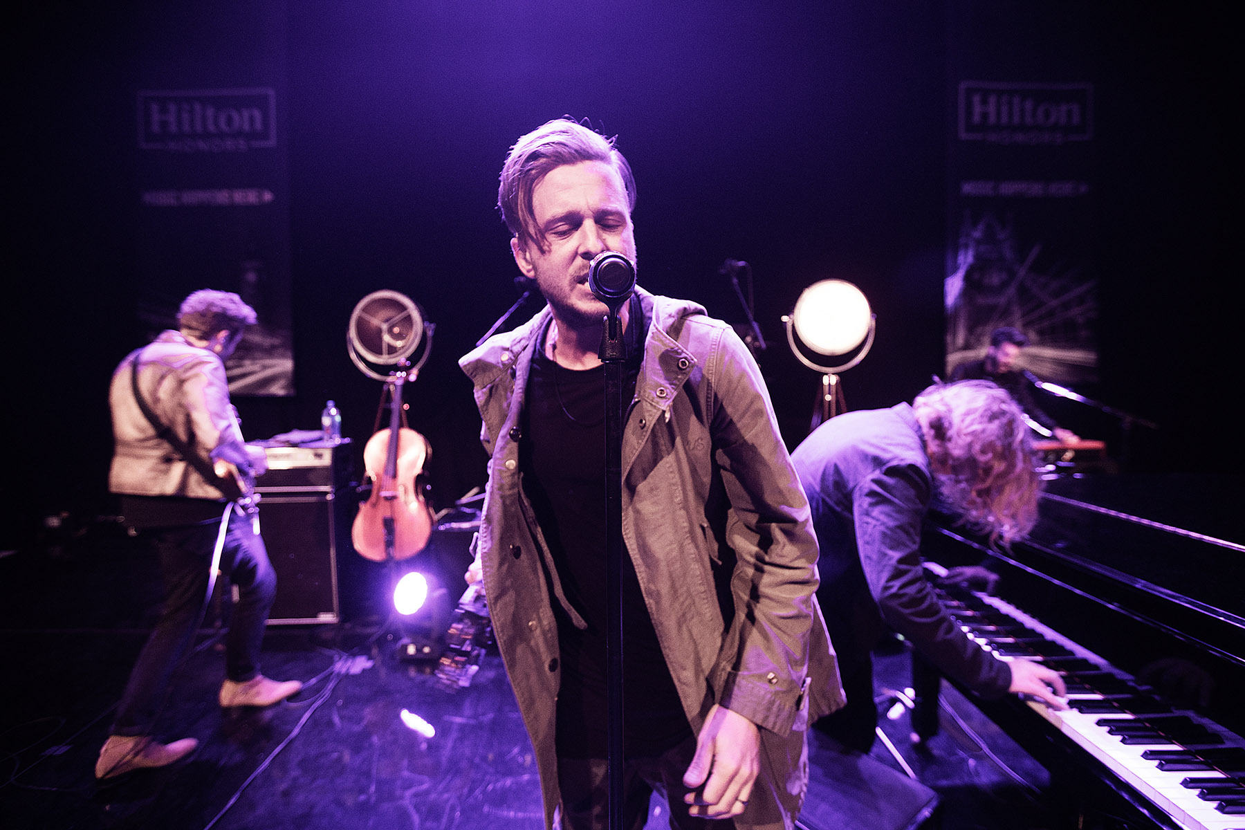 One Republic, Hilton Spotify Live Nation Music Happens Here by Boston based commercial celebrity photographer Brian Nevins