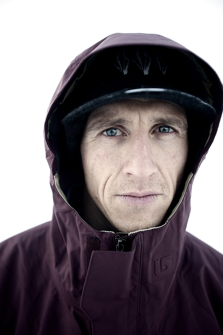 Snowboard legend Terje Haakonsen by Boston based commercial portrait photographer Brian Nevins