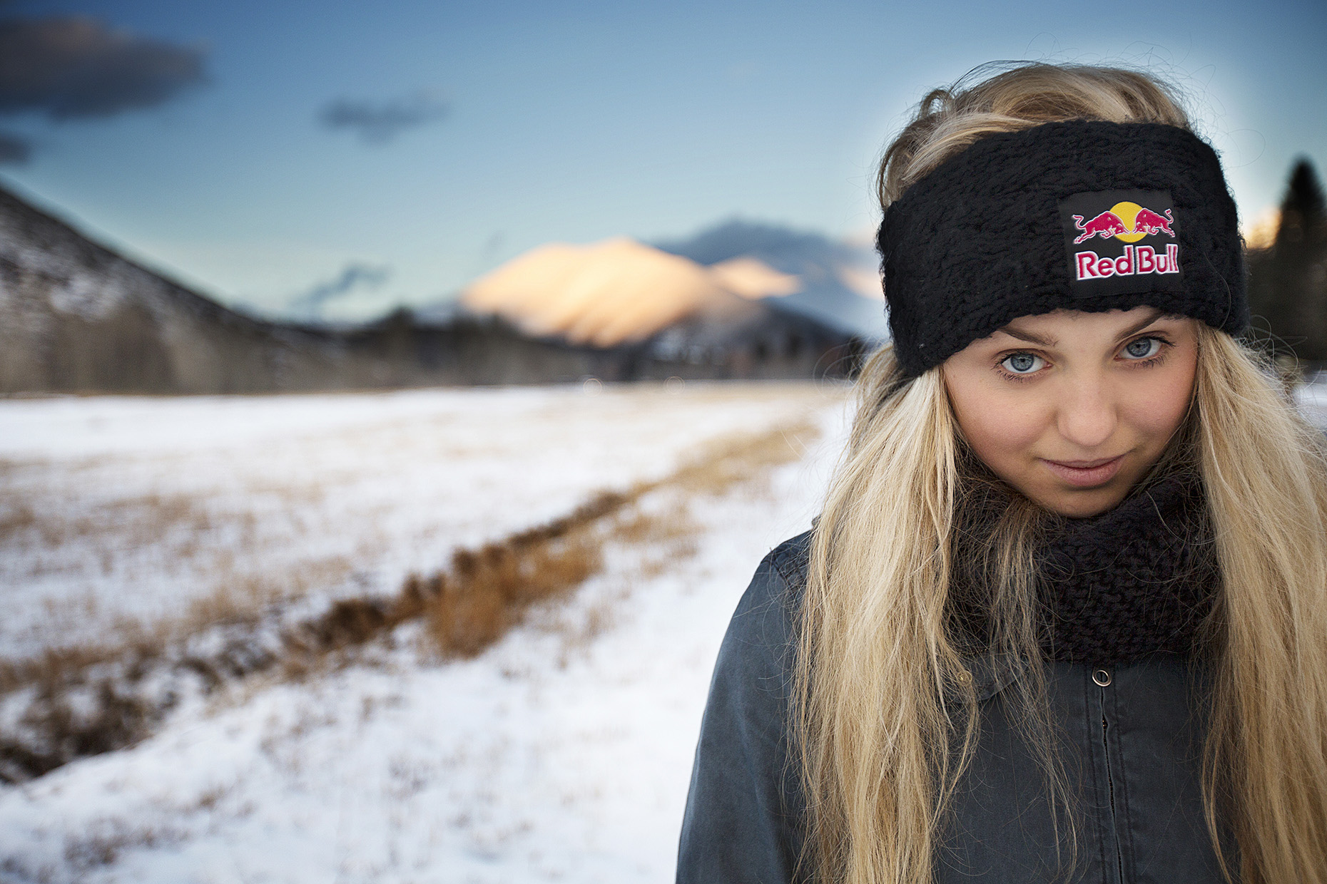 Olympic snowboarder Aimee Fuller for Red Bull by Boston based commercial portrait photographer Brian Nevins