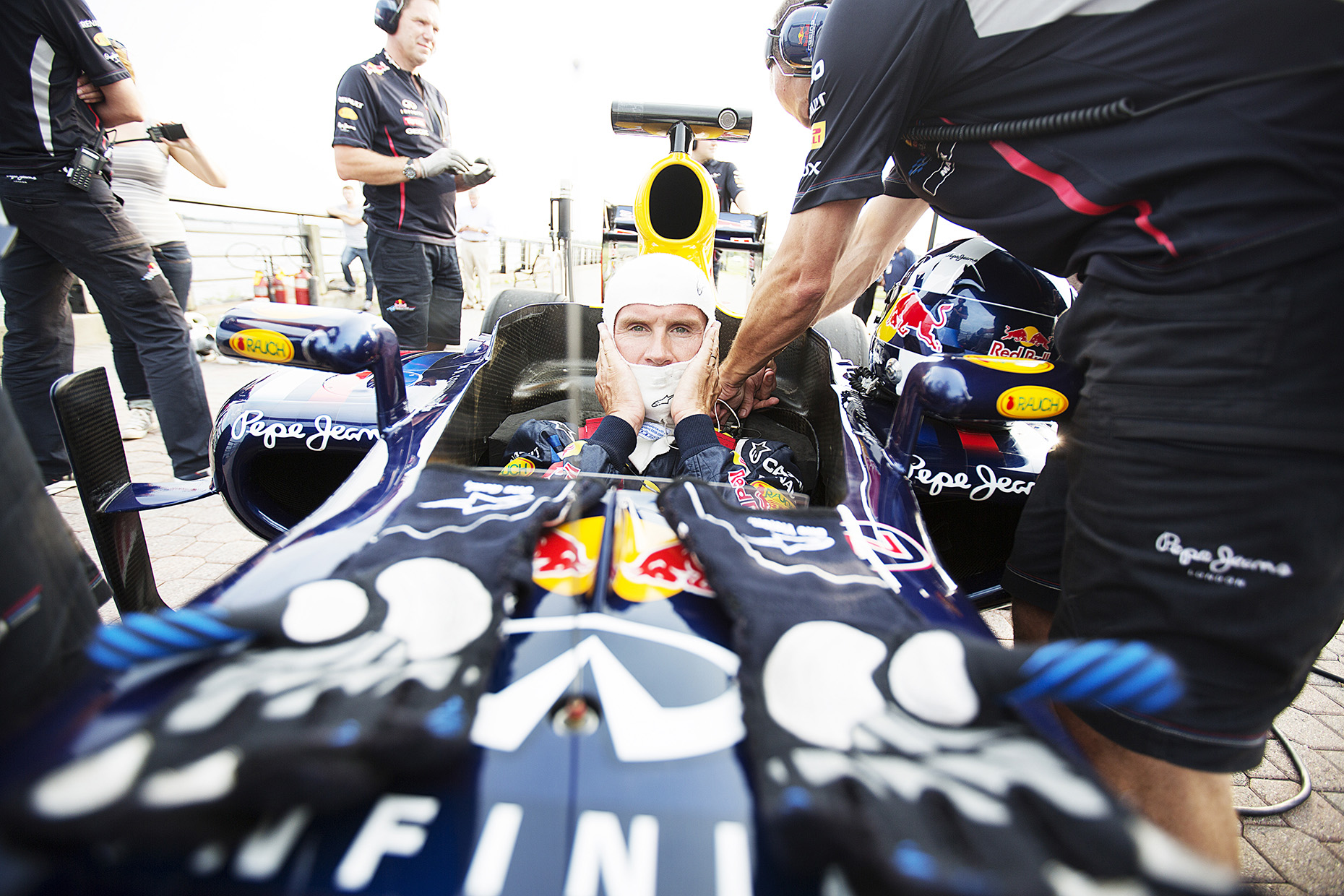 F1 Racing for Red Bull by Boston based commercial portrait photographer Brian Nevins