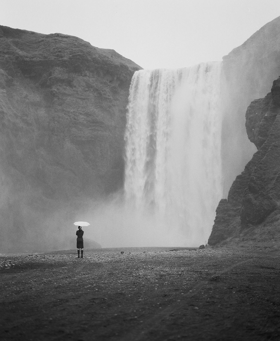 Skogafoss waterfall in Iceland by Boston based commercial lifestyle photographer Brian Nevins