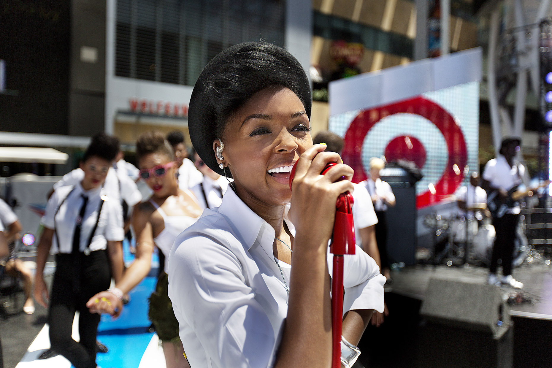 Janelle Monae for Target by Boston based commercial celebrity photographer Brian Nevins