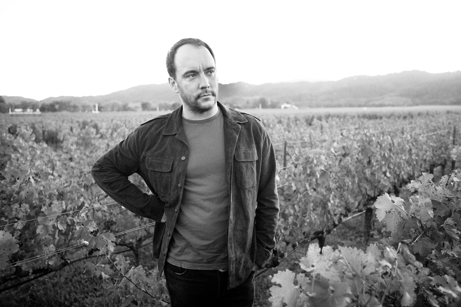 Dave Matthews in Napa for American Express Pairings by Boston based commercial celebrity photographer Brian Nevins
