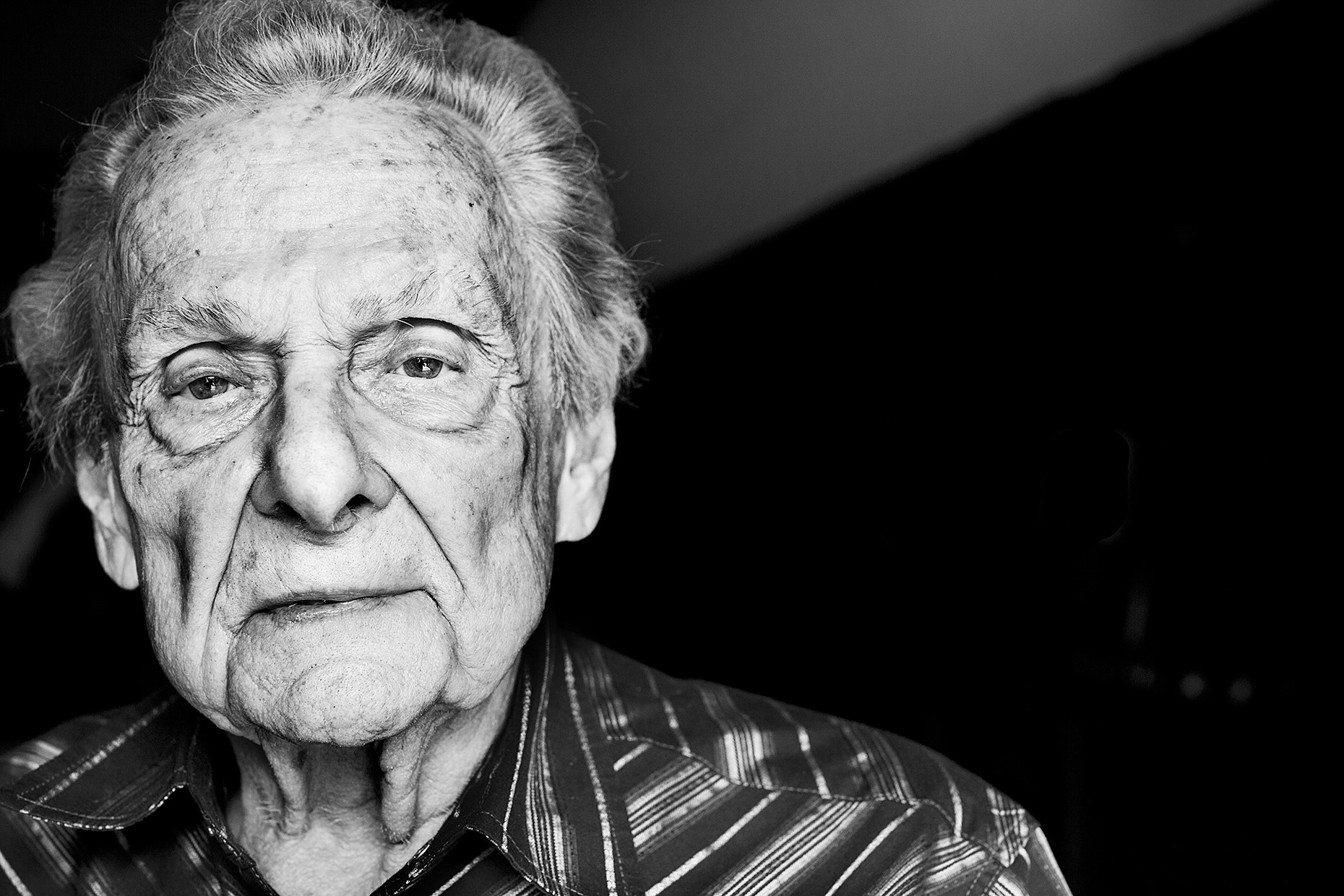 Ralph Stanley by Boston based commercial celebrity photographer Brian Nevins