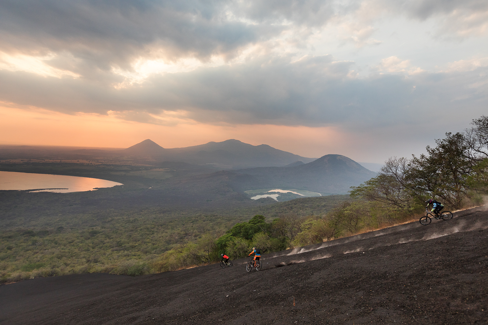 Mountain Bike the volcano Momotombo for Schwalbe by Boston based commercial sports photographer Brian Nevins