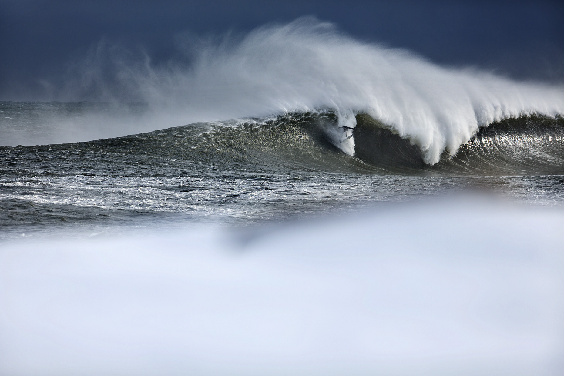Winter Surfing in Maine by Boston based commercial sports photographer Brian Nevins