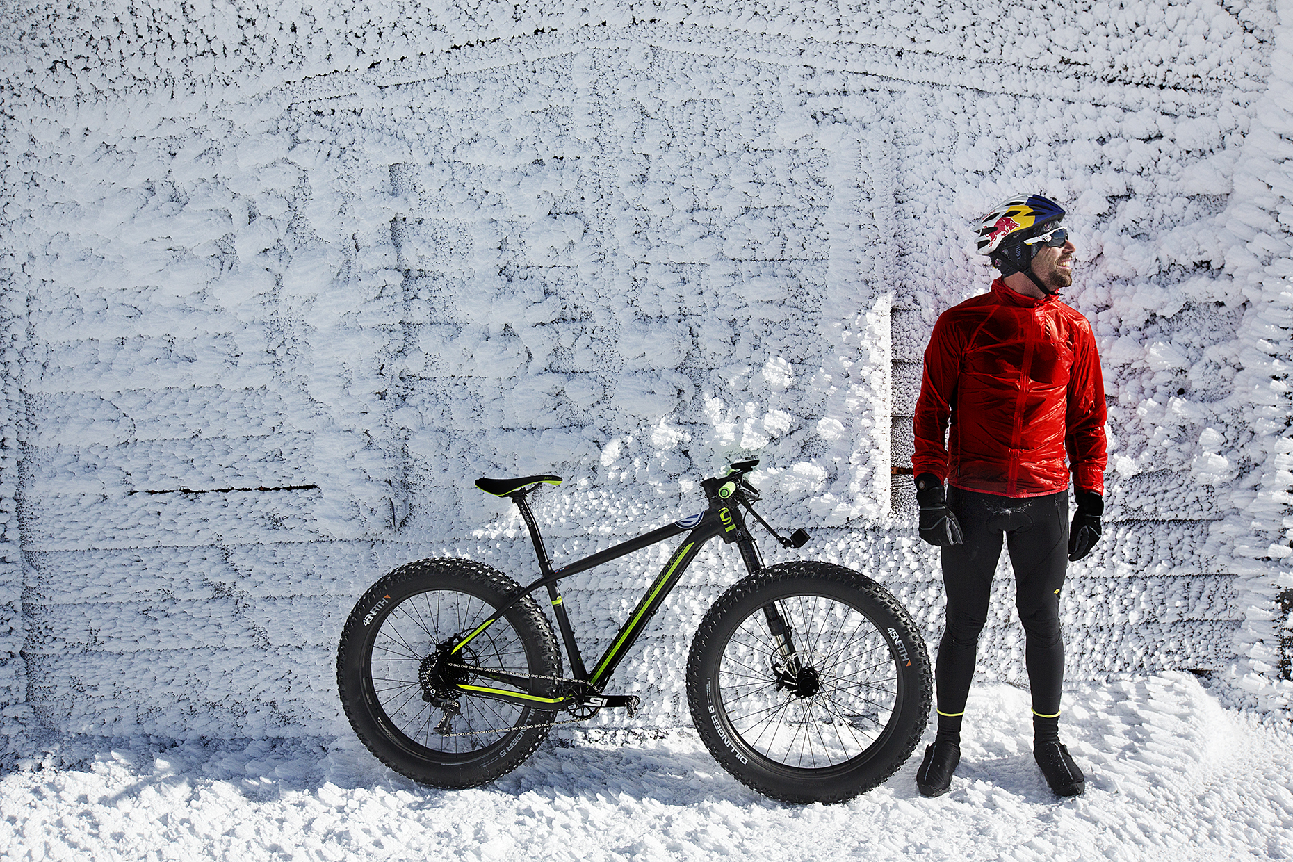 Tim Johnson fat tire bikes Mount Washington in New Hampshire  by Boston based commercial lifestyle photographer Brian Nevins