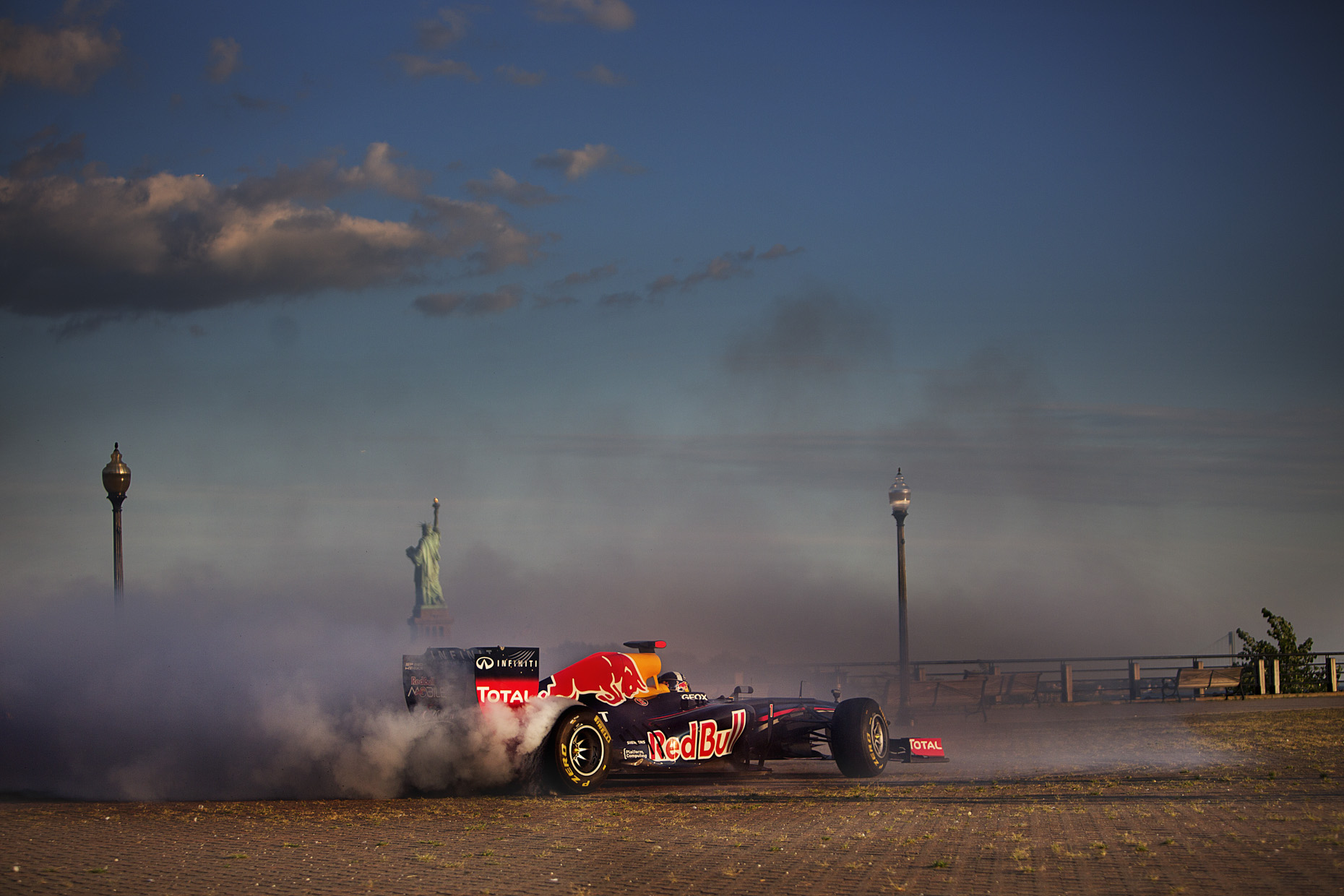 F1 New York City for Red Bull by Boston based commercial sports photographer Brian Nevins