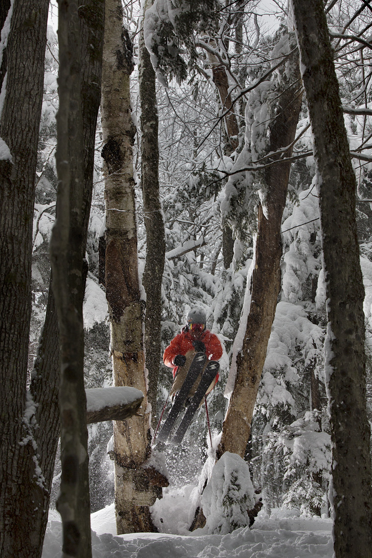 Skiing Attitash by Boston based commercial sports photographer Brian Nevins