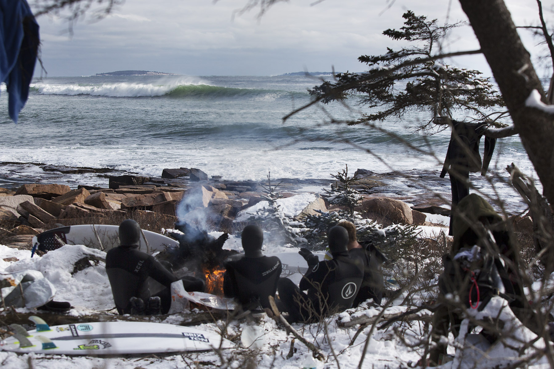 Winter surfing in Maine by Boston based commercial lifestyle photographer Brian Nevins